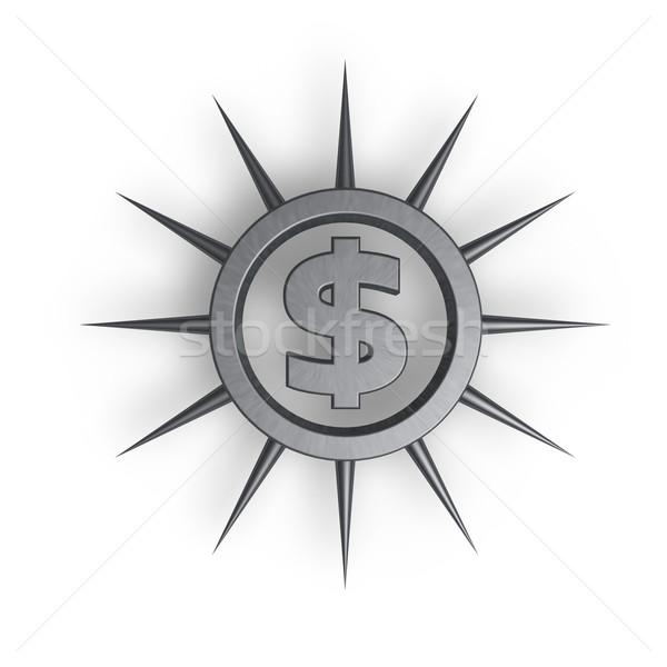 Dollár szimbólum gyűrű 3d illusztráció üzlet absztrakt Stock fotó © drizzd