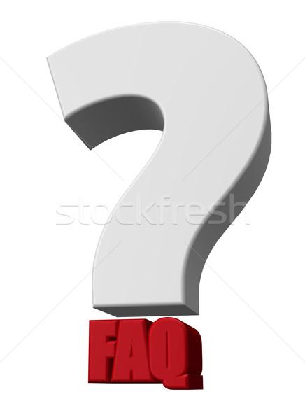 よくある質問 疑問符 ポイント 3次元の図 サービス サポート ストックフォト © drizzd