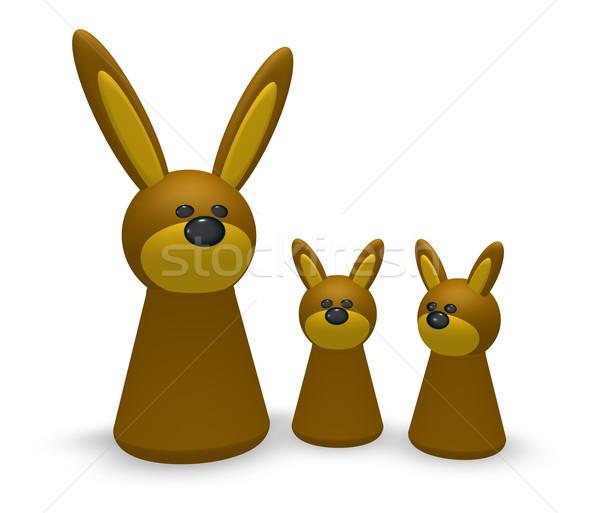 rabbit family Stock photo © drizzd