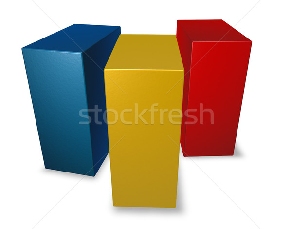 romania flag made from blocks - 3d illustration Stock photo © drizzd