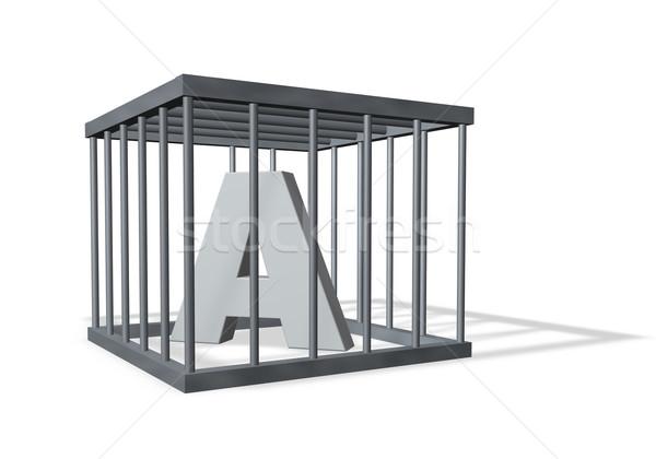 Levél ketrec fehér 3d illusztráció biztonság szabadság Stock fotó © drizzd