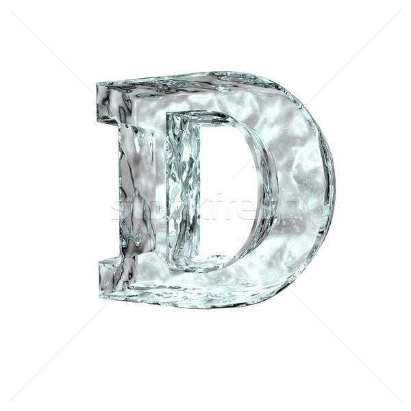 Fagyott d betű fehér 3d illusztráció levél hideg Stock fotó © drizzd