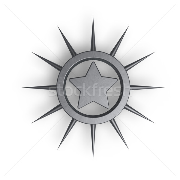 Stok fotoğraf: Metal · star · halka · içinde · 3d · illustration