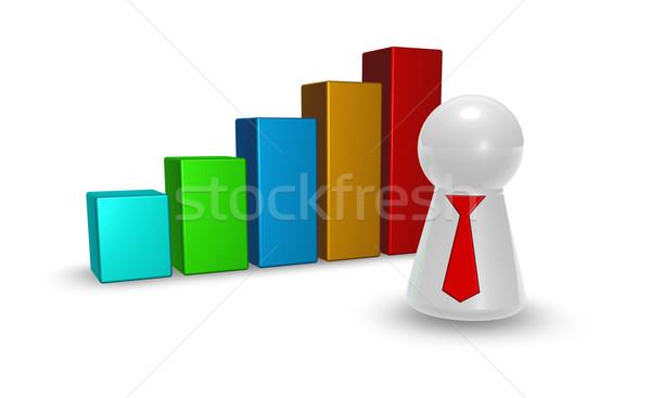 Foto d'archivio: Statistiche · bar · giocare · figura · cravatta · illustrazione · 3d
