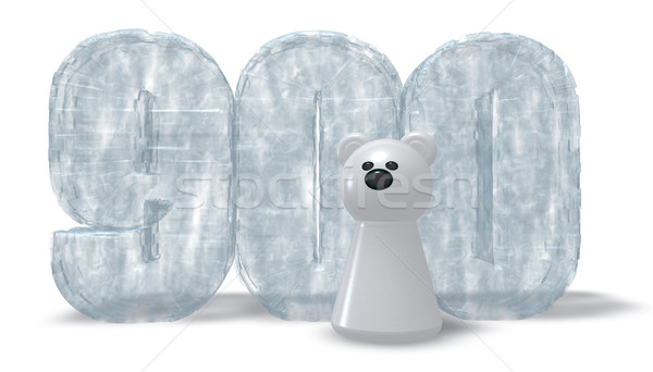 frozen number nine hundred and polar bear - 3d rendering Stock photo © drizzd