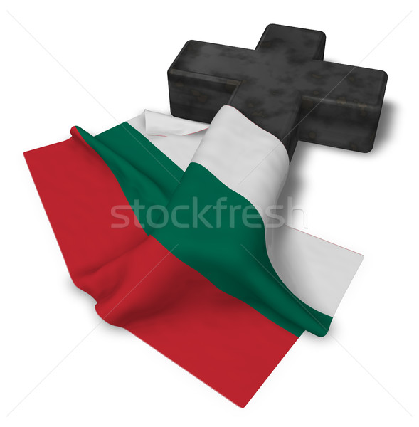 christian cross and flag of bulgaria - 3d rendering Stock photo © drizzd