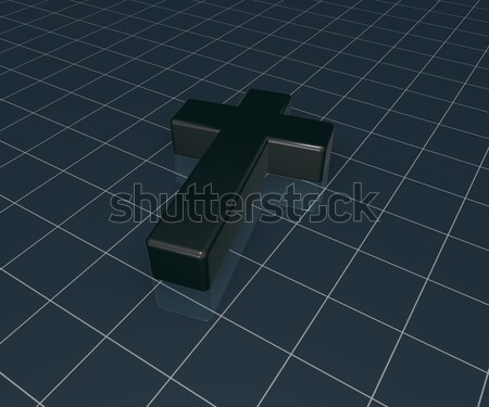 christian cross - 3d rendering Stock photo © drizzd