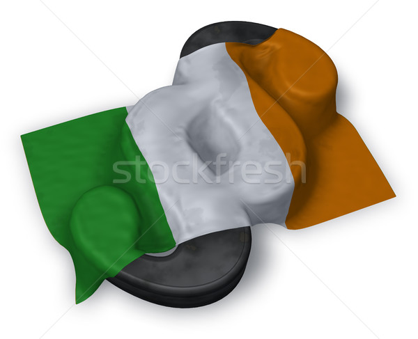 Comma simbolo irish bandiera illustrazione 3d Europa Foto d'archivio © drizzd