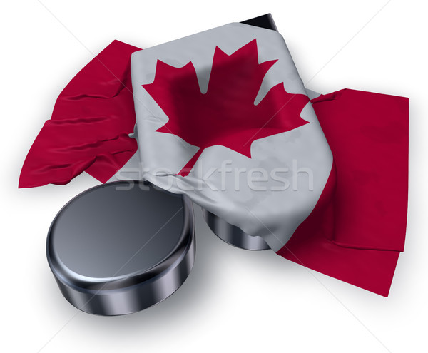Stock photo: music note and canadian flag - 3d rendering