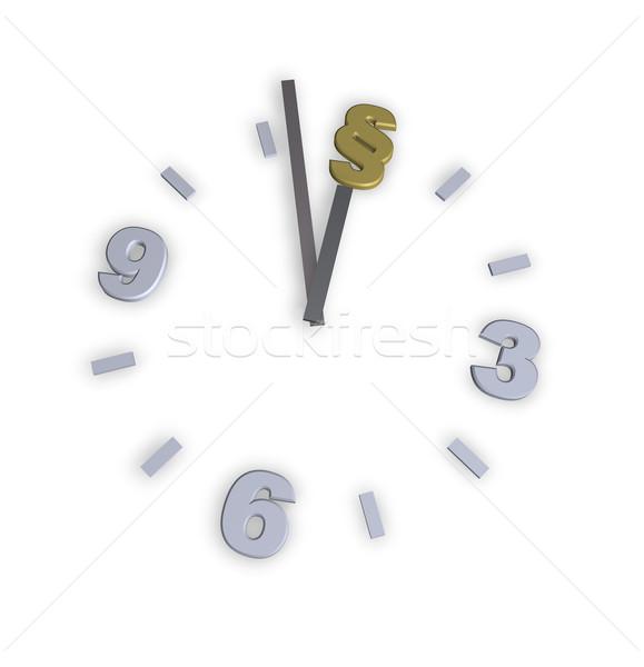 Ley reloj párrafo símbolo 3d fondo Foto stock © drizzd