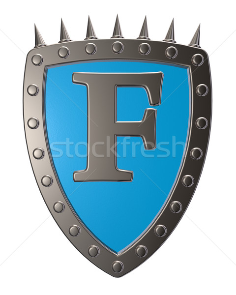 shield with letter f Stock photo © drizzd