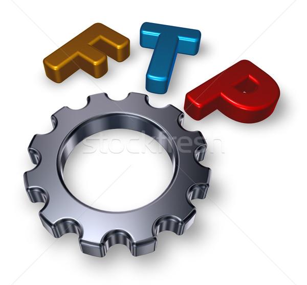Ftp etiqueta Internet tecnología máquina Foto stock © drizzd