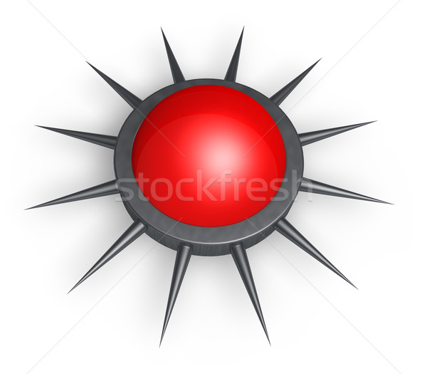 button with spikes  Stock photo © drizzd