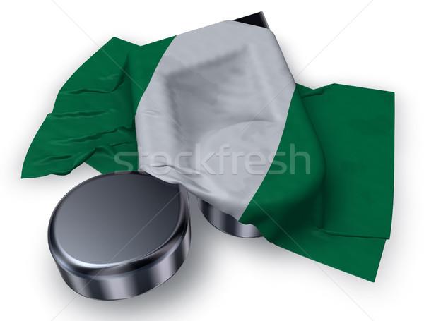 Música nota bandeira Nigéria 3D Foto stock © drizzd