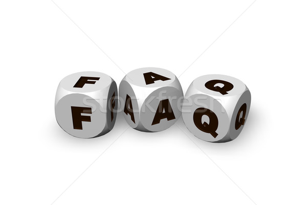 Faq drie brieven 3d illustration spelen 3D Stockfoto © drizzd