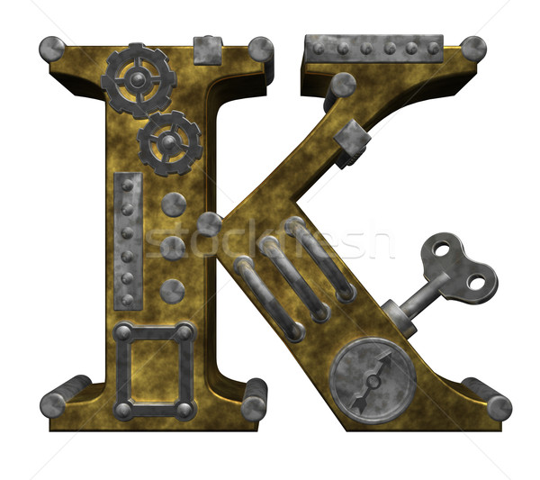 steampunk letter k Stock photo © drizzd
