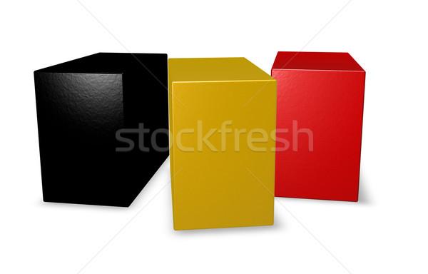 Belçika bayrak bloklar 3d illustration renk model Stok fotoğraf © drizzd
