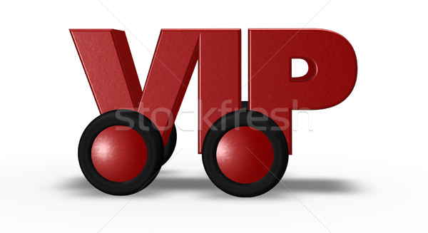 Vip wielen 3d illustration teken brief glamour Stockfoto © drizzd
