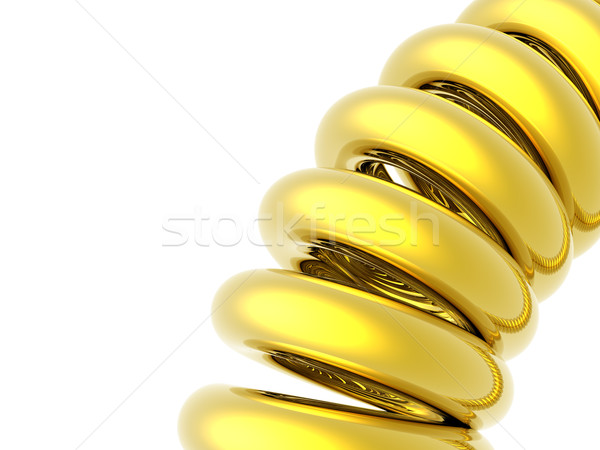 golden coil Stock photo © drizzd