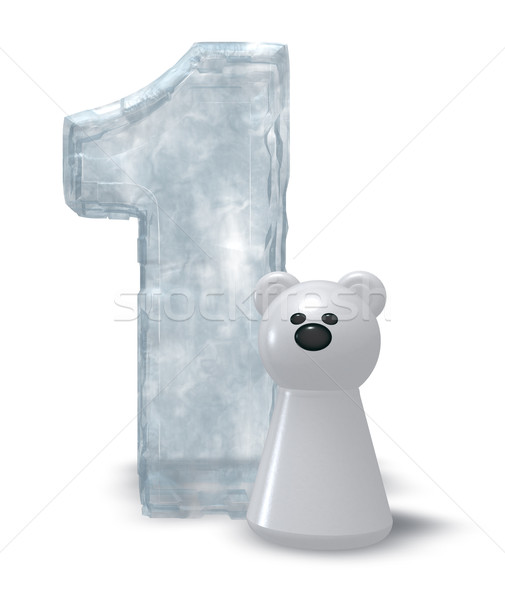 ice number and polar bear Stock photo © drizzd