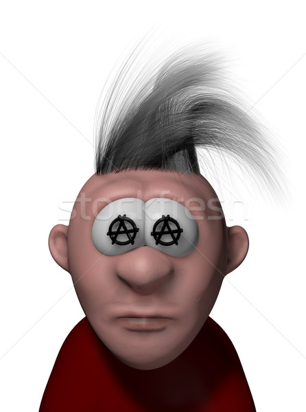 punk cartoon guy Stock photo © drizzd