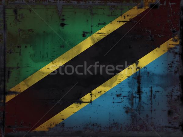 グランジ タンザニア フラグ アフリカ 国 アンティーク ストックフォト © drizzd