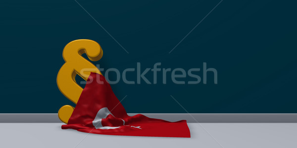 paragraph symbol and turkey flag - 3d rendering Stock photo © drizzd