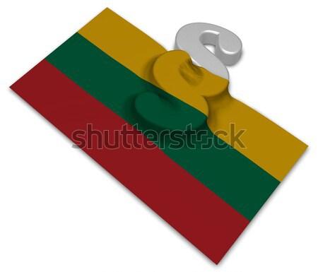 Absatz Symbol Regenbogen Flagge 3D Rendering Stock foto © drizzd