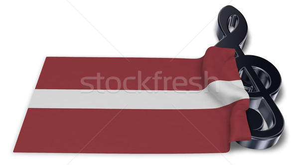Symbool vlag Letland 3D kunst Stockfoto © drizzd