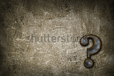 rusty question mark Stock photo © drizzd