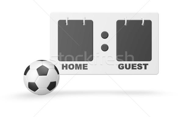 Futbol sayı tahtası futbol topu beyaz 3d illustration top Stok fotoğraf © drizzd