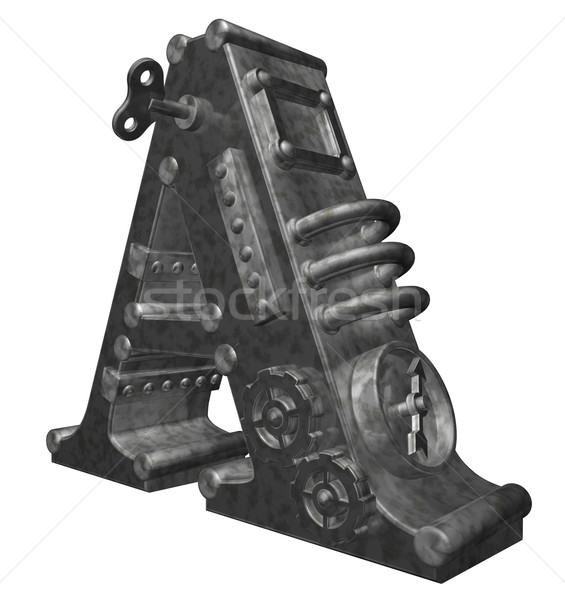 Steampunk lettre blanche 3d illustration résumé design Photo stock © drizzd