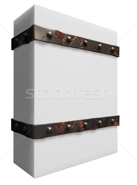 Csomagol vasaló doboz 3d illusztráció építkezés bár Stock fotó © drizzd