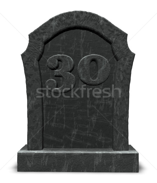 number thirty on gravestone Stock photo © drizzd