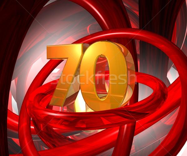 golden seventy Stock photo © drizzd