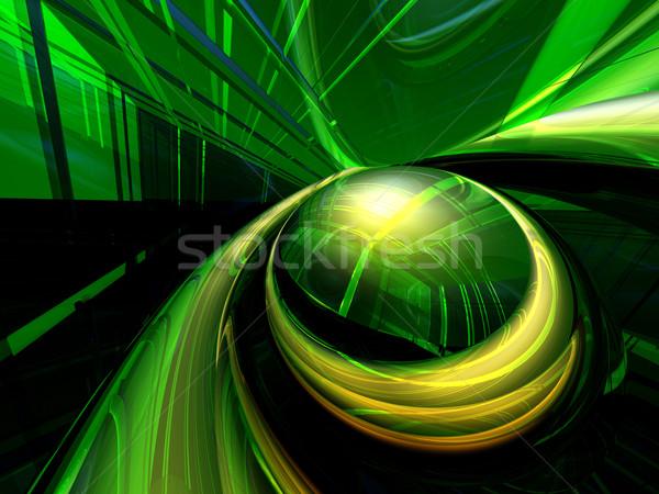 Soyut yeşil fütüristik renkli 3d illustration dizayn Stok fotoğraf © drizzd