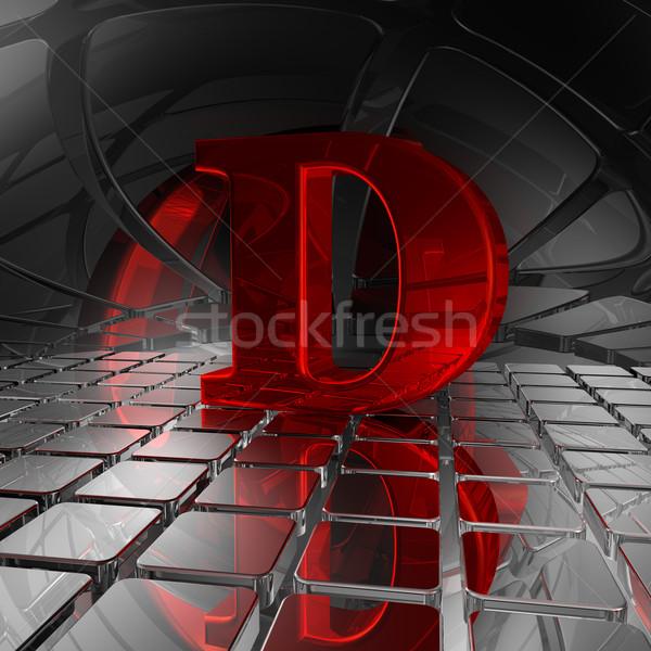 D betű absztrakt futurisztikus űr 3d illusztráció felirat Stock fotó © drizzd