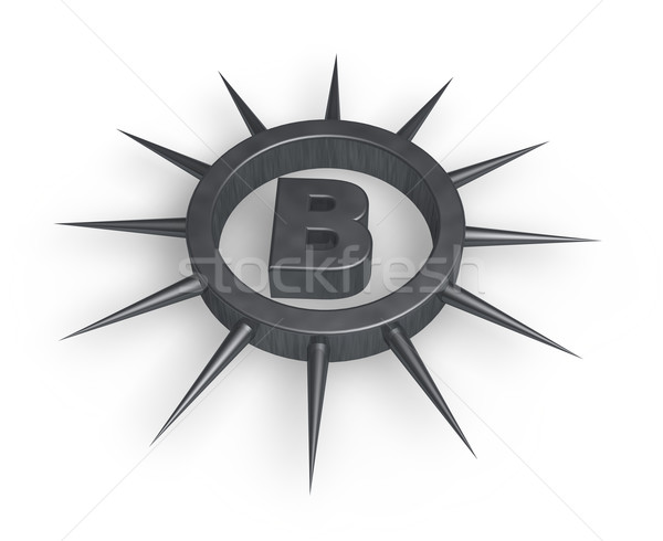 spiky letter b Stock photo © drizzd
