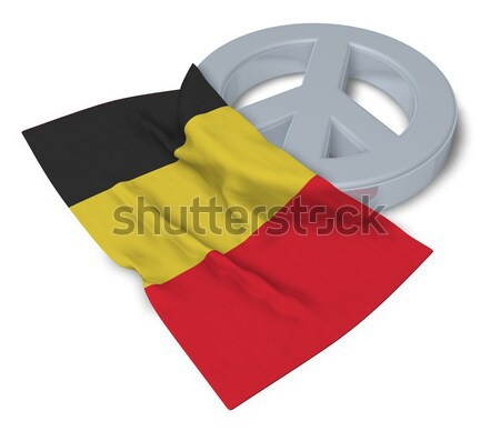 symbol for feminin and flag of belgium - 3d rendering Stock photo © drizzd