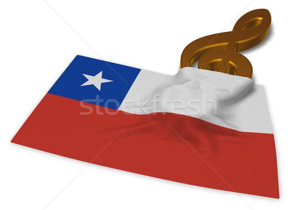 Simge bayrak Şili 3D anahtar Stok fotoğraf © drizzd