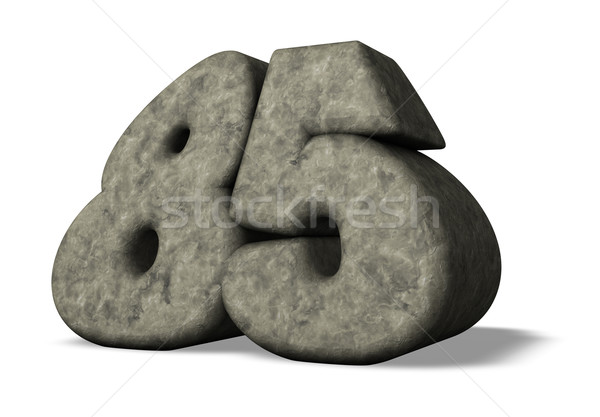 Número oitenta cinco pedra branco ilustração 3d Foto stock © drizzd