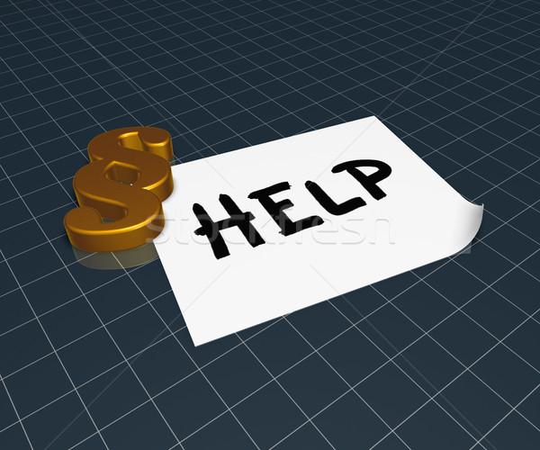 Mot aider papier fiche paragraphe symbole Photo stock © drizzd