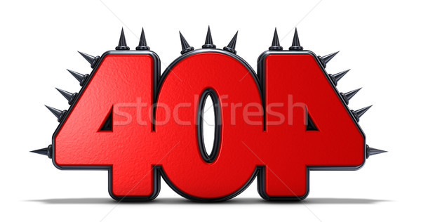 Erreur 404 nombre blanche 3D Photo stock © drizzd