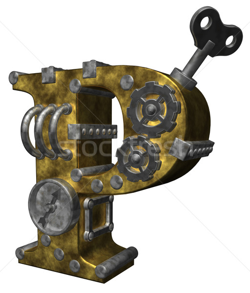 Steampunk blanche 3d illustration horloge art Photo stock © drizzd