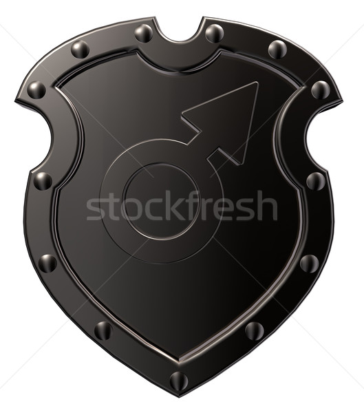 male symbol on shield Stock photo © drizzd