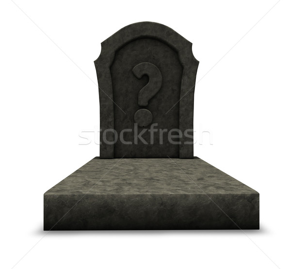 gravestone with question mark Stock photo © drizzd