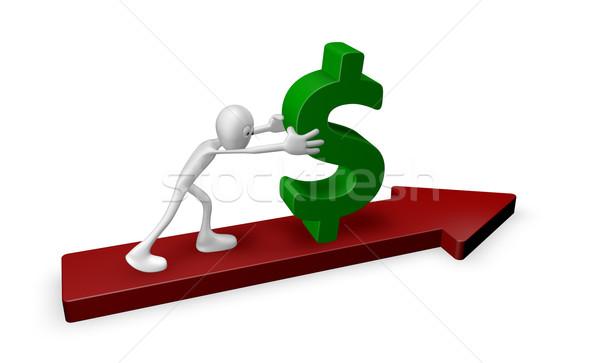 pushing dollar Stock photo © drizzd