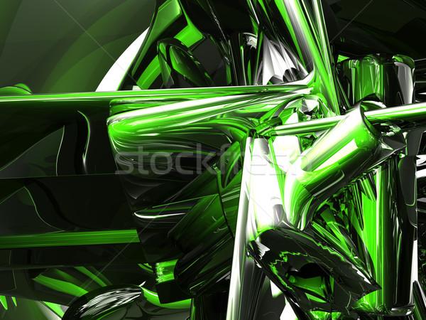 Chaos futurystyczny błyszczący metal 3d ilustracji streszczenie Zdjęcia stock © drizzd