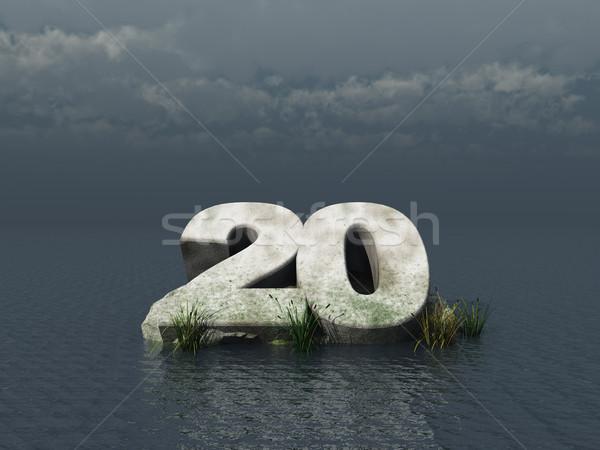 Twintig jaren aantal oceaan 3d illustration water Stockfoto © drizzd