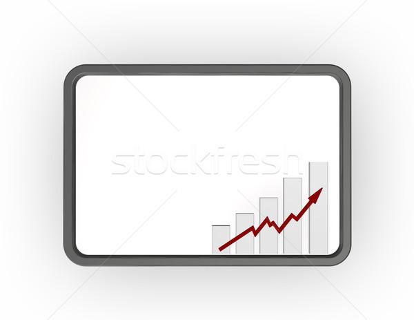 Statistiche business grafico metal frame Foto d'archivio © drizzd